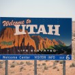 Stock Photo: Welcoming sign to Utah