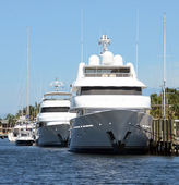 Luxusní jachty — Stock fotografie