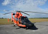 Kustwacht helikopter — Stockfoto
