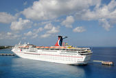 Carnival Fantasy cruise ship in Nassau — Stock Photo
