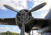 Eski uçak motoru — Stok fotoğraf