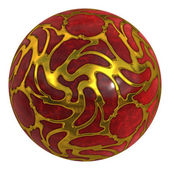 Precious stone red ball — Stock Photo