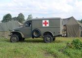 World War II era ambulance — Stock Photo