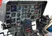 Helicopter cockpit instrumentation panel — Stock Photo