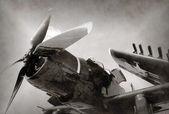 World War II era fighter plane — Stock Photo