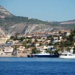 French Riviera coastline — Stock Photo