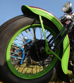 Motorcycle wheel closeup — Stock Photo