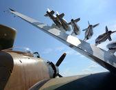 Alte marine jagdflugzeug — Stockfoto