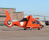 Coast Guard helicopter — Stock Photo