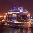 Ocean liner at night — Stock Photo