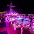 Ocean liner deck at night — Stock Photo