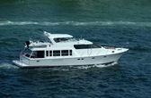 Luxury yacht on the Florida waterways — Stock Photo