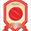 Stock Vector: Trophy basketball