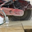 Cutting cement - Photo