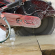 Cutting cement - Stockfoto