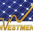 Solar panel investment — Stock Photo