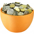 Two pots of coins — Stock Photo