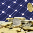 Save piles of money on solar - Stock Photo