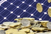 Save piles of money on solar — Foto de Stock