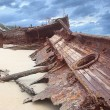 Royalty-Free Stock Photo: Broken up shipwreck