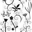 A set of floral swirls - Stock Vector