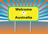 Welcome Australia rays — Stock Vector