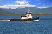 Tug boat towing — Stock Photo