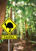 Cassowary sign — Stock Photo