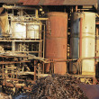 Stock Photo: Domolishing old BabindSugar Mill