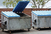 Two large rubbish bins — Stock Photo