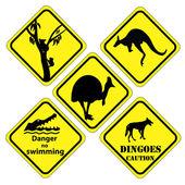 Australiska uppsättning tecken — Stockvektor