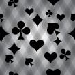 jugando a las cartas — Vector de stock