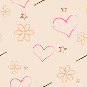 Flowers and hearts — Stock Vector