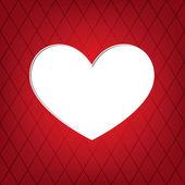 Bílá srdce — Stock vektor
