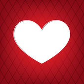 Corazón blanco — Vector de stock
