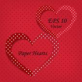 καρδιές χαρτί — Διανυσματικό Αρχείο