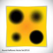 Halftones circles — Stock Vector