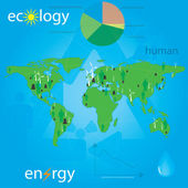 Ecology and — Stock Vector