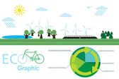 Eco graphic — Stock Vector