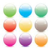 Set of colored glass balls — Stock Vector
