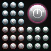 ボタン — ストックベクタ
