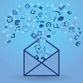 Open envelope — Stock Vector