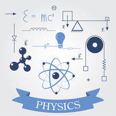 Symbols of physics — Stock Vector