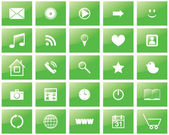 Green eco set of icons — Stock Vector