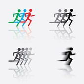 Icon of the running man — Stock Vector