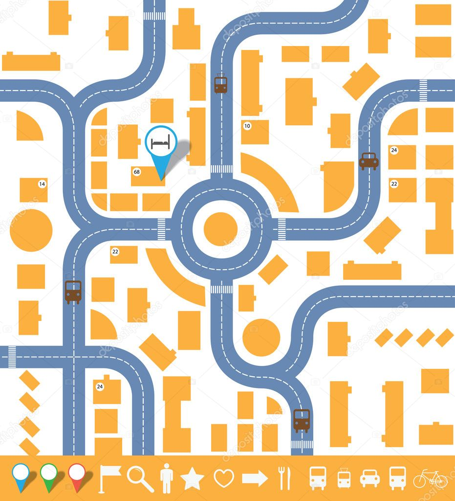 City Map Vector Free Infographics City Map Vector