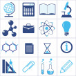 Icons of a science and education — Stock Vector