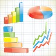 Royalty-Free Stock Vector Image: Set of business charts