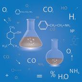 Kimyasal şişeler — Vector de stock