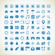 Stock Vector: Set of media icons in the style of the sketch